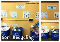 Sorting Recycling Work Task {an awesome life skill to work on!}