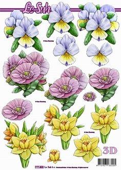 Nieuw bij Knutselparade: 2917 Le Suh knipvel bloemen 777 502 https://knutselparade.nl/nl/bloemen/375-2917-le-suh-knipvel-bloemen-777-502.html   Knipvellen, Bloemen  -  Le Suh