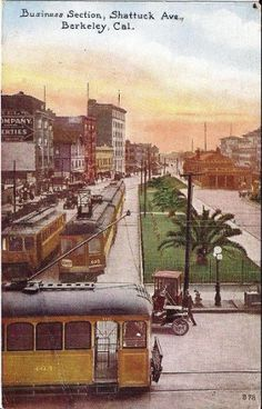 Berkeley Business Section, Shattuck Ave (1909)