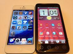 iPhone 5 vs. HTC EVO V 4G Review #Attmobilereview @VMUcare @Virginmobileus