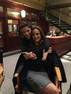 Grant Gustin and Danielle Panabaker #TheFlash ♥