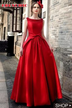 This pleated skirt and the o neck are the main features of the sleeveless dress. The red or black dresses are great for party, evening and other occasion. #eveningdresses #eveningdresseslong #eveningdressesprom #eveningdressesprombeautiful #eveningdressespromstyle #eveningdressespromfashion #eveningdressesmodest #ebuychic