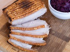 Traditional recipe for Danish roasted pork (Flæskesteg) with cracklings. Typically served at Christmas or other special occasions. Easy to prepare. Danish Cuisine, Danish Food, Danish Kitchen, Boneless Pork Roast, Nordic Recipe, Pork Roast Recipes, Scandinavian Food, Food Print, Cravings