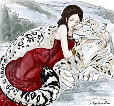 Lysandra (and a ghost leopard) by PhantomRin!!! LOVE THIS SO MUCH.