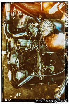 Vintage Harley Davidson Motorcycle Fine Art Classic Print 8.5x11 Garage Art