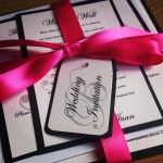 Only by Knight | Bespoke Wedding Stationery Design - Black & fuchsia monogram design