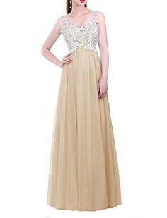 It is an amazing option for you to wear it on your special day.Long dress with lace decoration and A-line stylish.Perfect for evening party, wedding, prom and other formal occasion.