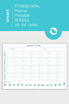 You Fitness, Fitness Goals, Health Fitness, Health Planner, Fitness Planner, Printable Planner, Printables, Goals Template, Workout Log