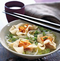 Miso Soup with Sweet Potato Dumplings from Epicurious.com #myplate #vegetables