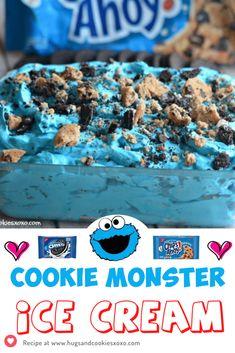 Cookie Monster Ice Cream
