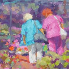 """Flower Market"" - Original Fine Art for Sale - © Bruce Bingham"