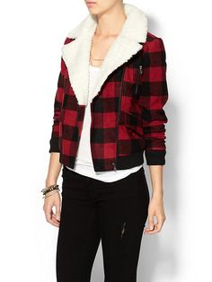 R13 Plaid Shrunken Flight Jacket. R13 does great plaid shirts and ...