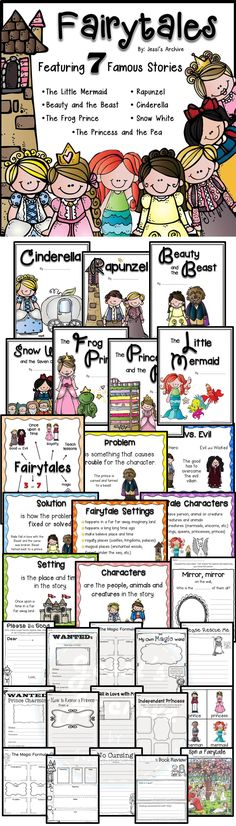 Fairy Tales: A Fantasy Unit: 112 pages - This pack will help your class have a magical fairytale unit. Composed of supplementary posters, activity sheets, idea cards, booklets, graphic organizers and more!