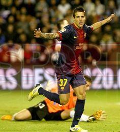 "Tello, FC Barcelona, ""Consumado es!""   Valladolid 1-3 FC Barcelona. Tercer gol del encuentro. [22.12.12]"