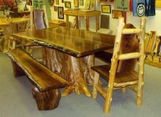 Rustic Log Table from cedar-stuff.com