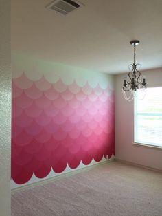 Girls Room Paint, Girls Bedroom, Bedroom Colors, Bedroom Decor, Princess Room Decor, Wall Color Combination, Church Interior Design, Mermaid Bedroom, Accent Wall Bedroom
