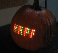 Mike Szczys went all out this Halloween and installed a matrix of 70 LEDs in a pumpkin! The result is a way to scroll messages in the dark for visitors and ...