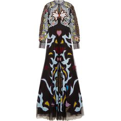Mary KatrantzouSundance Lace And Textured Leather-trimmed Appliquéd... (8,515 CAD) ❤ liked on Polyvore featuring dresses, gowns, black, glitter dress, tulle evening dress, pleated dress, lace evening gowns and embellished dress