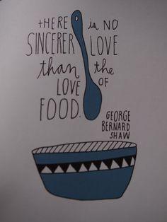 Helsinki Dragonfly food quote lisa congdon illustration george bernard shaw love saying