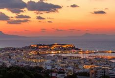 Rethymnon Crete Greece at Sunset