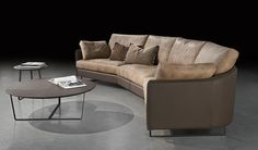 Swing Two-Tone Sectional by Gamma International, Italy Click the Picture to learn more #furniture #modernfurniture #livingroom #sofa #fabricsofa #leathersofa #sectional