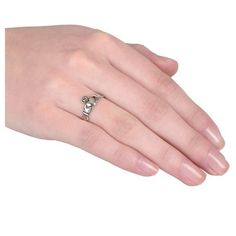 Women's Journee Collection Claddagh Ring in Sterling Silver - Silver (10)