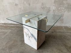 Items similar to Ardeti style travertine brass and glass table on Etsy Marble Furniture, Furniture Legs, Contemporary Furniture, Modern Contemporary, Marble End Tables, Art Tables, Home Decor Hooks, Table Easel, Chair Design