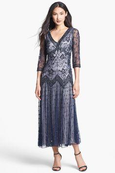 Pisarro Nights Beaded Mesh Dress by Pisarro Nights on @nordstrom_rack