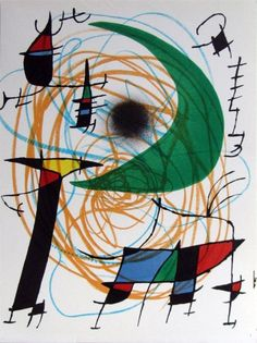 Joan Miro Lune Verte print for sale. Shop for Joan Miro Lune Verte painting and frame at discount price, ships in 24 hours. Joan Miro Artwork, Joan Miro Paintings, Abstract Paintings, Oil Paintings, Miro Artist, Nature Posters, Art Posters, Ecole Art, Spanish Painters