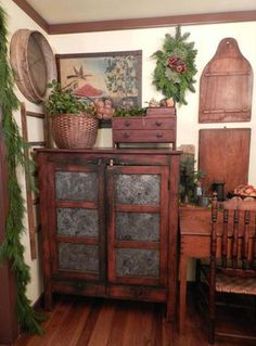 Pie Safe ~ A Primitive Place ~ Primitive & Colonial Inpired Living Rooms