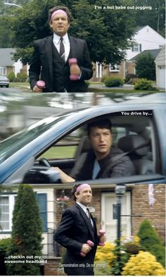 """""""i'm a hot babe out jogging..."""" hahah. A little motivation from Allstate's Mayhem"""