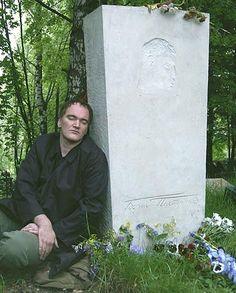 Tarantino visited the grave of one of his favorite authors Boris Pasternak (2004)
