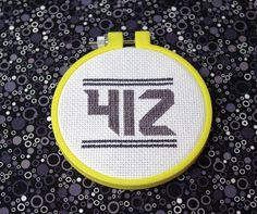 "Pittsburgh Cross Stitch Pattern PDF  ""Area Code 412"" by stitchburghese, $4.00. 412 is Pittsburgh's first and finest area code. Sorry 724. The inspiration for this pattern was taken from a neck tattoo seen on a Dahn'tahn hipster. That's hardcore, yinz."