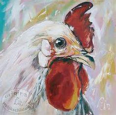 Vrolijk Schilderij kippen - Vrolijk Schilderij