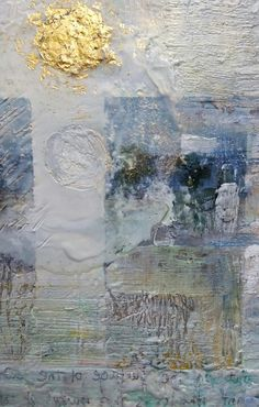 Detail of Amos 5:8 Encaustic on wood  By Dorota Matys Art & Design