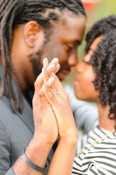 Check out today's sweet outdoor engagement session captured by Tunji of ojfphoto.
