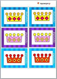 Παιχνίδι μνήμης με κάρτες στέμμα