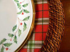 A Toile Tale: Tartan Christmas Table