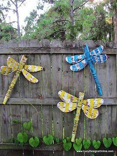 I want to make these and put them on my fence in the backyard at home or at our property.