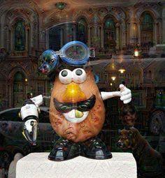 Steampunk Mr Potato Head. Deep Dreamed pic