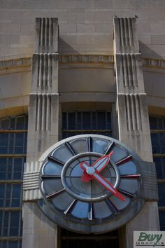 Cincinnati Union Terminal  Cincinnati, Ohio  The humongous clock that looks out from the front and overlooks the long park.  byenvy-graphix
