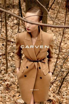 The Fall 2010 ad campaign for Carven is just stunning. I began to explore the site after seeing the beautiful Camel . Mode Style, Style Me, Viviane Sassen, Camel Coat, Carven, Kappa, Karl Lagerfeld, Autumn Winter Fashion, Work Wear