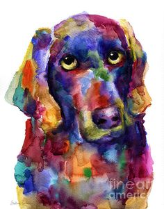 This colorful contemporary art painting of Weimaraner dog was painted with watercolors on paper.  Prints are available on gallery wrapped canvas, metal, acrylic, paper, cards, framed and unframed.  This picture would make a great gift for any dog lover.  Copyright Svetlana Novikova, prints start at $27.  I am available for commissions.