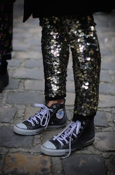 sequins and chucks