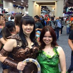 Cosplay: Poison Ivy and Xena, the Warrior Princess