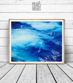 Ocean surf print ocean photography surf wave photo nautical