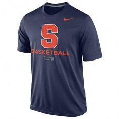 0483ee32cc5 Syracuse Orange Basketball Nike Elite Navy Dri-Fit Practice Large L T-Shirt