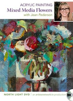 Acrylic Painting: Mixed Media Flowers with Jean Pederson | NorthLightShop.com