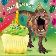 Dinosaur Birthday Card Stunning Portrait Awesome Photograph