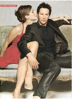 Keanu Reeves and Sandra Bullock in Speed & Lake House Keanu Reeves John Wick, Keanu Charles Reeves, Keanu Reeves Sandra Bullock, Jesse James, Sandro, Larry Wilcox, Keanu Reaves, Movie Couples, Famous Couples